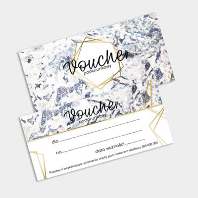 Voucher niebieski abstrakcyjny