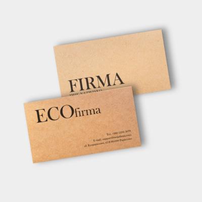 wizytówki na papierze eco craft