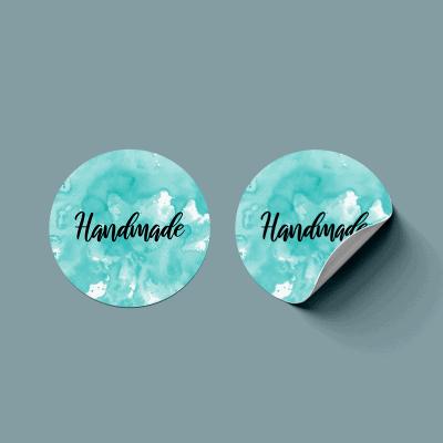 Handmade with love naklejka do pakowania